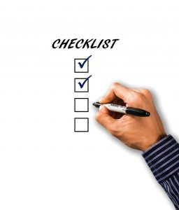 Drop Down Ceiling Mount Checklist